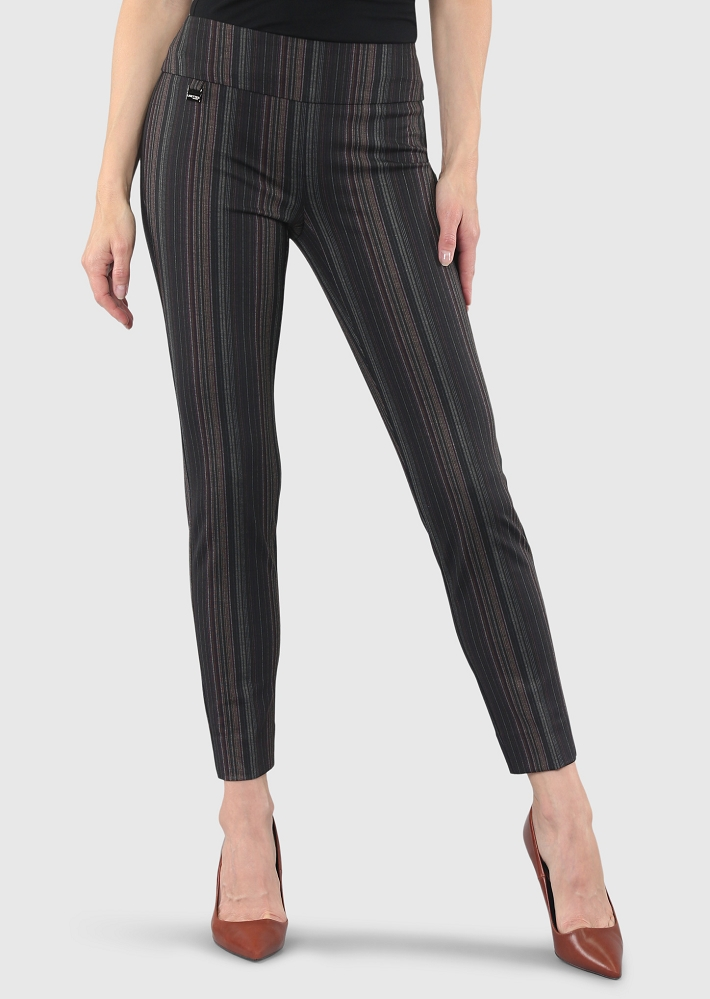 Lisette L. Slim Ankle Narrow Pant Style 53555 Porto Stripe Print PDR Color Multi